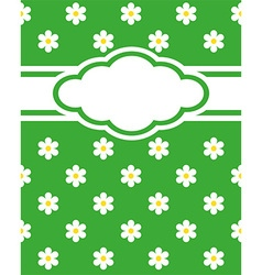 Card invitation daisy vector image