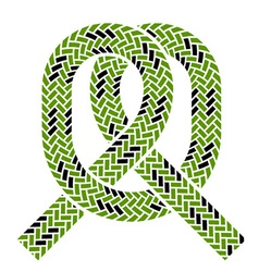 Climbing rope knot symbol vector