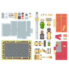 Construction elements - set of modern vector