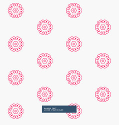 Cute pink flower pattern background vector