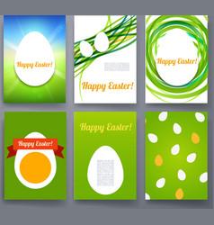 Easter eggs templates flyer brochure vector