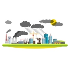 Flat city and industrial landscape Environmental vector image vector image