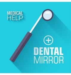 Flat medical dental mirror background conce vector