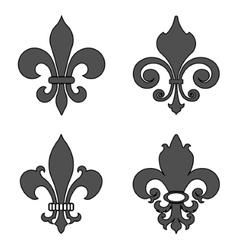Fleur de lis heraldic flower symbol - vector