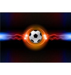 football electric dark orange vector image vector image
