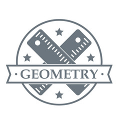 geometry logo simple gray style vector image