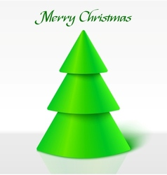Green christmas tree vector image vector image