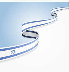 Israeli flag background vector