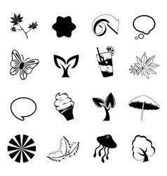 nature design elements vector image vector image