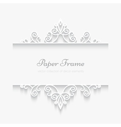 Paper swirly frame vector image vector image