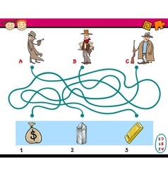 paths puzzle educational game vector image vector image