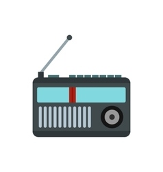 Radio receiver icon in flat style vector