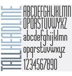 Retro stripes font vector