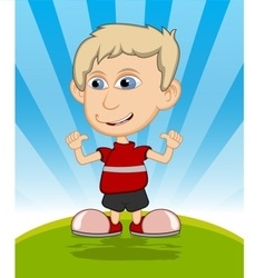 The boy laughing cartoon vector image