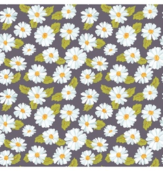 Vintage floral daisy background - seamless pattern vector
