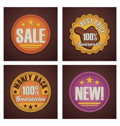 Shopping badges set vector