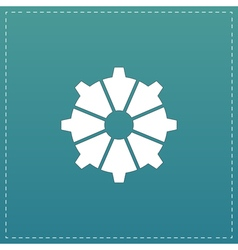 Gear icon  flat design style vector