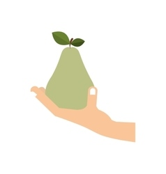 Hand with fruit vector