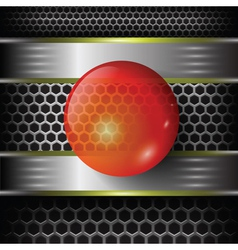 red glass sphere vector image