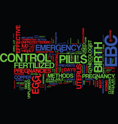 Emergency birth control an overview text vector