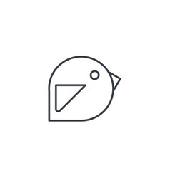 Bird message symbol tweet thin line icon linear vector