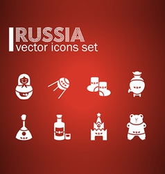 Russian icon set vector
