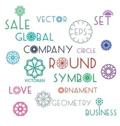 Round symbols with slogans vector image