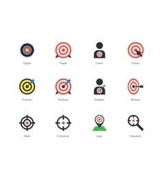 Target icons on white background vector