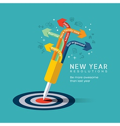 New year resolution concept vector
