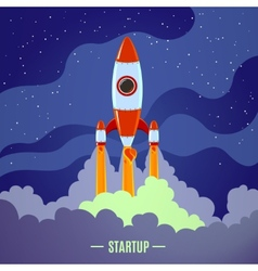 Startup rocket launch vector