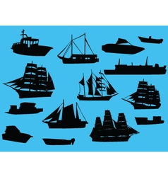 Ships collection vector