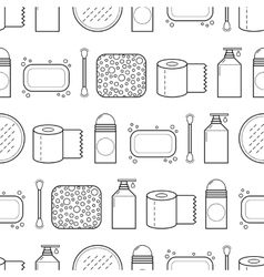 Feminine hygiene Seamless pattern with cosmetics vector image