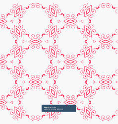 Abstract red floral pattern background vector