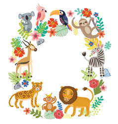 animals of the jungle vector image