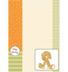 Baby shower card with puppy vector