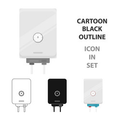 Boiler icon in cartoon style isolated on white vector