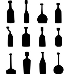 bottle silhouette vector image vector image