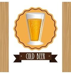 cold beer design vector image