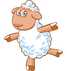 cute cartoon sheep character vector image