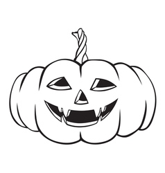 Fanged pumpkin vector