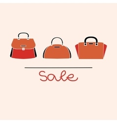 fashion red handbag vector image vector image