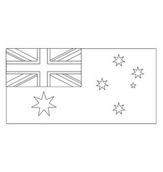 Flag of australia 2009 vintage vector