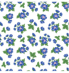 floral seamless pattern flower background texture vector image vector image