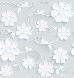 Flowers pattern daisy on gray background vector