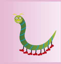 funny centipede in glasses vector image
