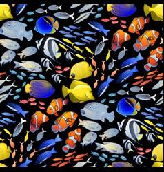 graphic ocean fish pattern vector image