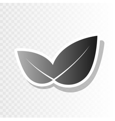 leaf sign new year blackish vector image