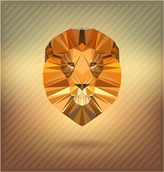 lion in the style of origami abstract vector image vector image