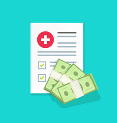 medical document and money vector image vector image