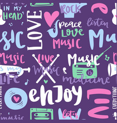 music love motivation lables badges seamless vector image